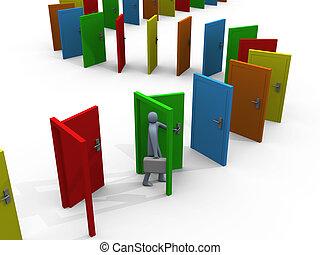 #1, puertas, interminable