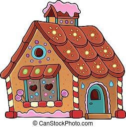 1, pumpernikiel, temat, wizerunek, dom