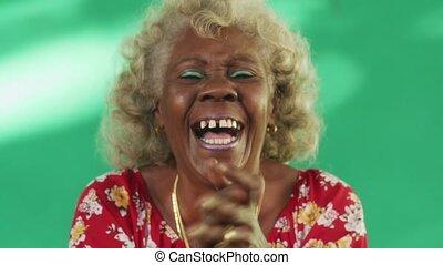 1 Real People Portrait Funny Elderly Woman Hispanic Lady...