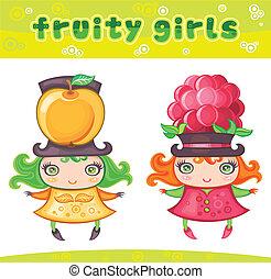 1, reeks, meiden, fruitig