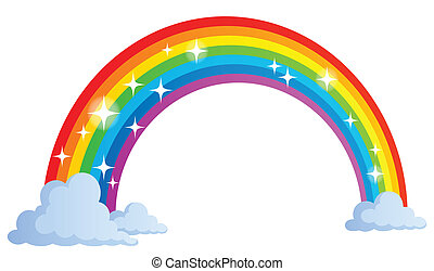 1, regenboog, beeld, thema