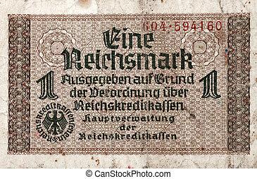 1, reichsmark, 1938-1945, banknote