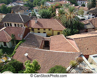 1. roof 2. housetop 3. carpet