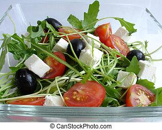 1, rucola, salade