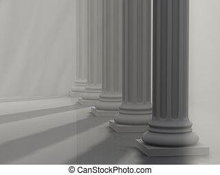 1, rzymskie kolumny