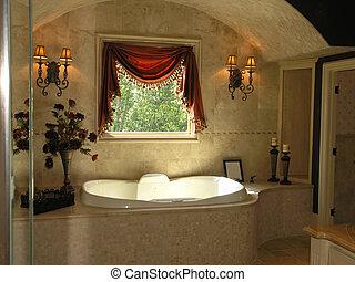1, salle bains, -, luxe