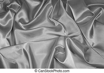 1, satin/silk, argento, tessuto