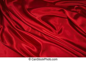 1, satin/silk, tyg, röd