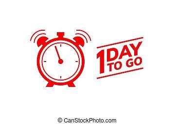 1, senast, furu, erbjudande, promo, pris, tidmätare, försäljning, en, nedräkning, bara, gå, icon., dag