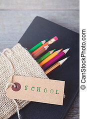 1 September concept postcard, teachers' day, back to school, college, supplies, flat lay