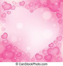1, serce, abstrakcyjny, temat, wizerunek