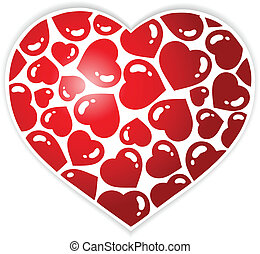 1, serce, temat, wizerunek