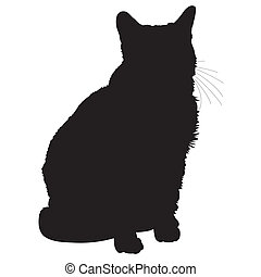 1, silhouette, chat