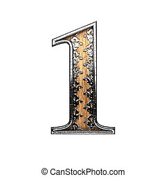 1 silver letter. 3D illustration