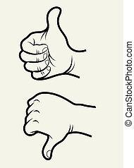 1, sinais mão