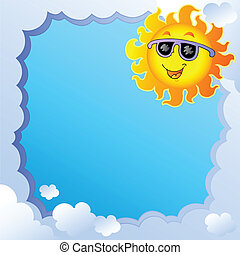 1, sol, marco, nublado