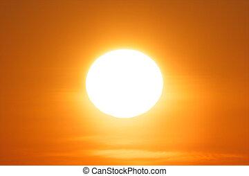 1, sol, noite, resplandecer