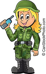 1, soldato, tema, immagine, femmina