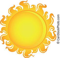 1, soleil, thème, image