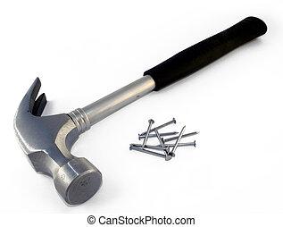 #1, spijkers, hamer
