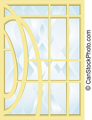 1. Stained-glass windows.