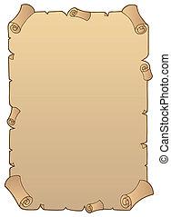 1, starożytny, papier woluta