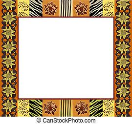1, stil, rahmen, afrikanisch