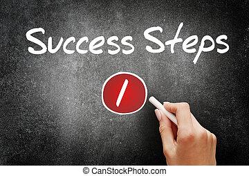 1 Success Step, business concept