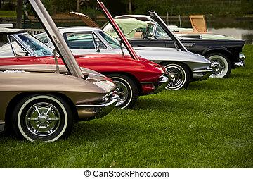1, szüret, amerikai, sportkocsi
