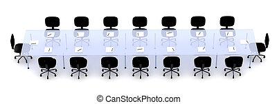 1, tavola, conferenza