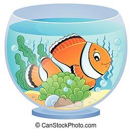 1, tema, aquário, imagem