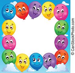 1, tema, balões, quadro