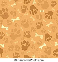 1, tema, cão, fundo, seamless
