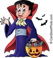 1, tema, dia das bruxas, vampiro, imagem