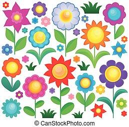1, tema, flor, cobrança