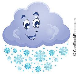 1, tema, imagem, nuvem, inverno