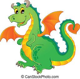 1, tema, imagen, dragón