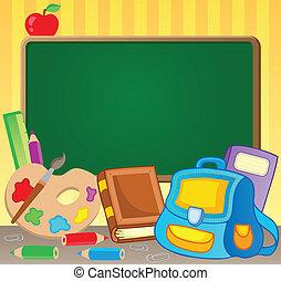 1, tema, immagine, schoolboard