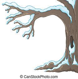 1, tema, inverno árvore, imagem