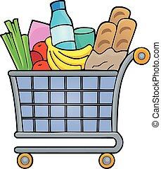 1, tema, shopping, imagem, carreta