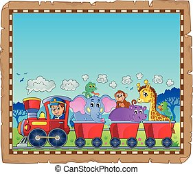 1, tema, treno, animali, pergamena
