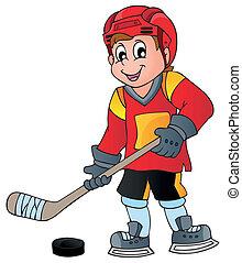 1, temat, hokej, wizerunek