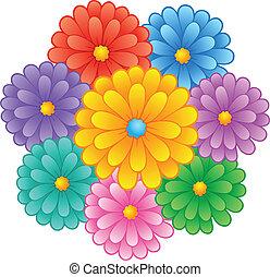 1, temat, kwiat, wizerunek