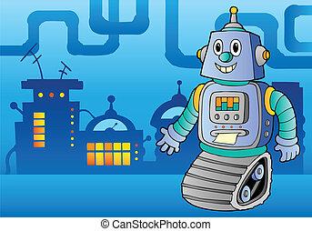 1, temat, robot, wizerunek