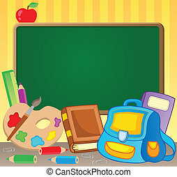 1, temat, wizerunek, schoolboard