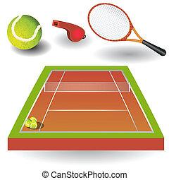 1, tenis, iconos