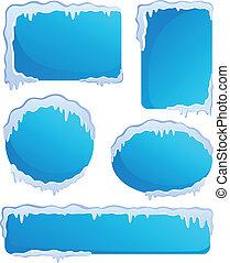 1, thème, étiquettes, hiver, image