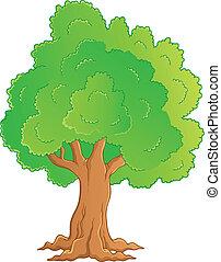 1, thème, arbre, image