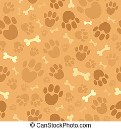 1, thème, chien, fond, seamless