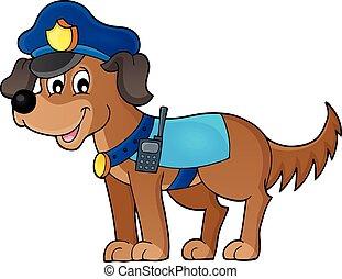 1, thème, chien policier, image